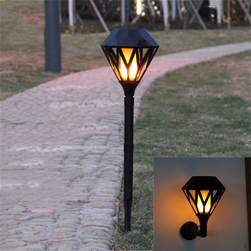 Solar Flame Flickering Garden LED light IP65 outdoor solar flame tiki torch light Spotlights