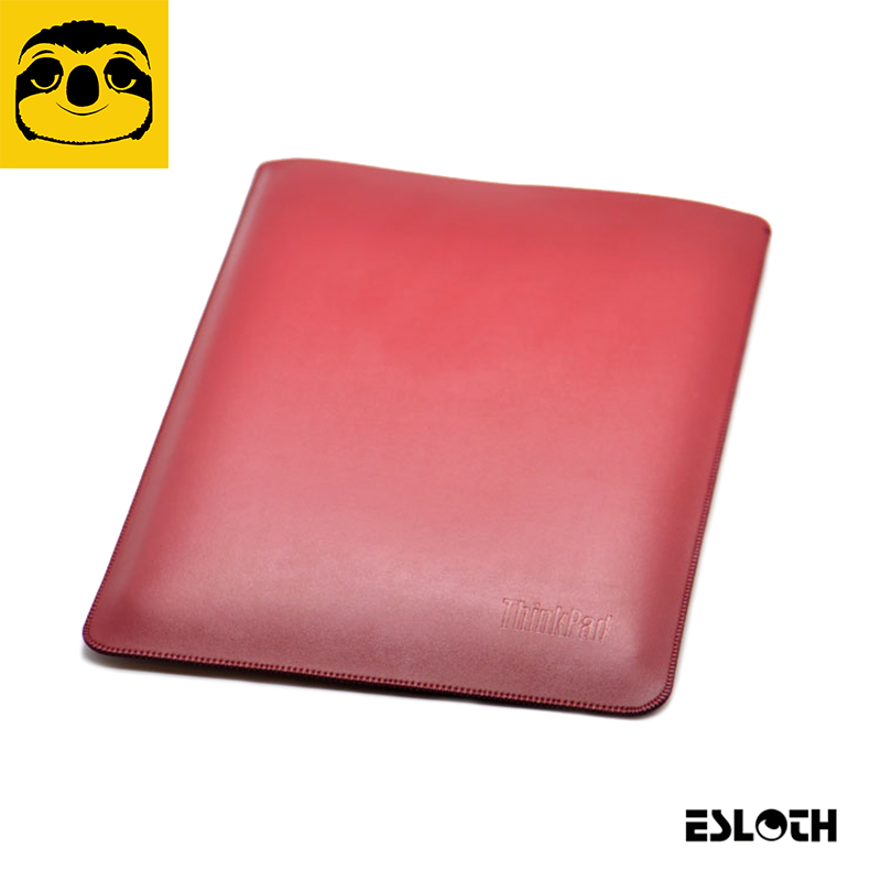 ESLOTH Plain Weave Red For Lenovo ThinkPad X1 Carbon 14 PU Leather Cases Into Sets of