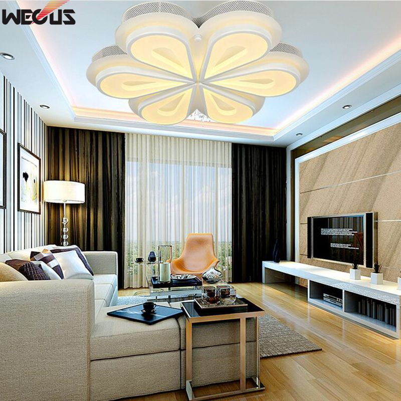 ФОТО Modern acrylic ceiling light, The peacock shape,Art LED surface mounted ceiling lamps , AC90-265V, 6 heads 36W Sales