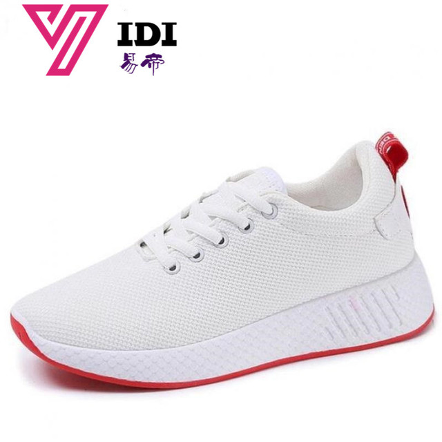 YIDI Spring Designer Wedges White Platform Sneakers Women Shoes Tenis  Feminino Casual Air Mesh Female Shoes Woman Basket Femme f98c04de33b7