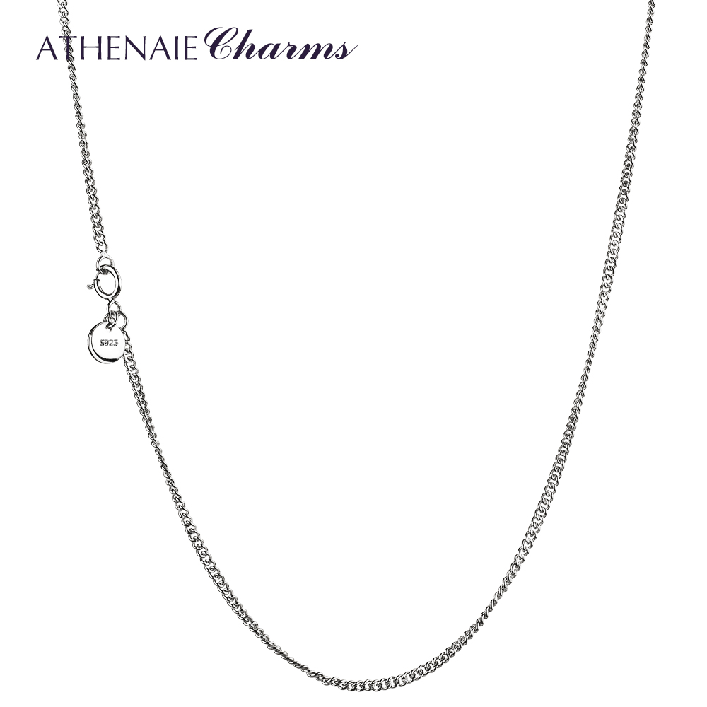 ATHENAIE 925 Sterling Silver Durable Chain Necklace Fit Pendant Charm For Women Men Luxury S925 Jewelry GiftATHENAIE 925 Sterling Silver Durable Chain Necklace Fit Pendant Charm For Women Men Luxury S925 Jewelry Gift
