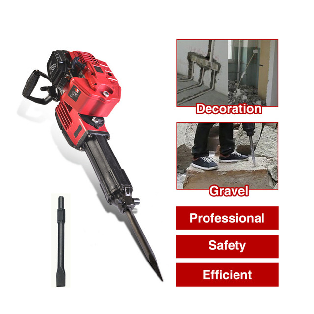 1700W Hammer Impact Drill Heavy Wall Hammer Cordless Drill Gasoline Multifunctional Wood Planer Tool Accessories
