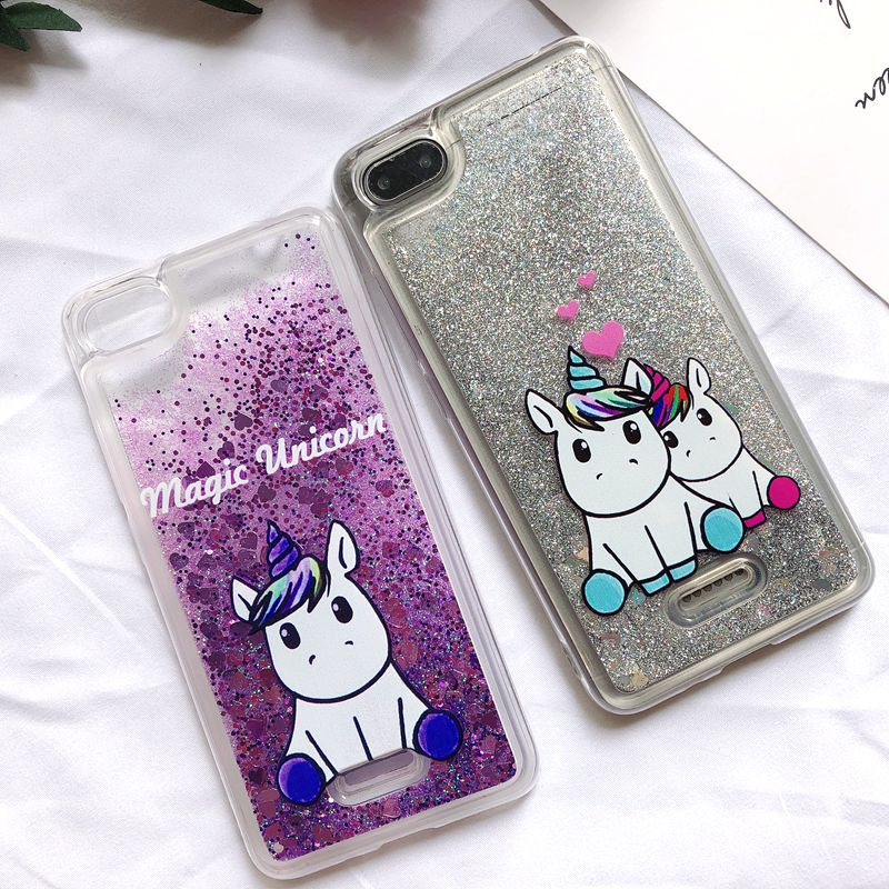 <font><b>6A</b></font> Etui <font><b>Xiaomi</b></font> <font><b>Redmi</b></font> <font><b>6A</b></font> <font><b>Case</b></font> Kawaii Unicorn Glitter Liquid quicksand Back <font><b>Cover</b></font> on for Funda <font><b>Xiaomi</b></font> <font><b>Redmi</b></font> <font><b>6</b></font> <font><b>6A</b></font> <font><b>Xiomi</b></font> Phone <font><b>Case</b></font> image