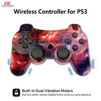 K ISHAKO For Compatible Ps3 Gamepad Bluetooth Joystick Vibrator SIXAXIS for Ps3 game controller Wireless Gamepad for ps3 games