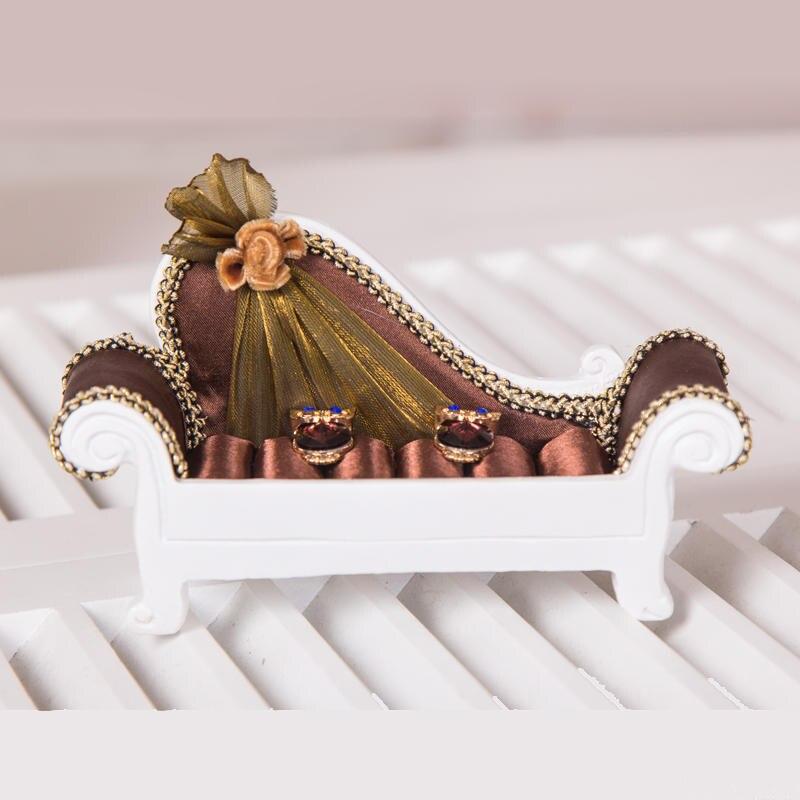 Meilleur Organisateur Bijoux affichage Exhibidor pour jadéite Bijoux collier Bracelet anneau boucles d'oreilles ensembles de décoration de mariage - 6