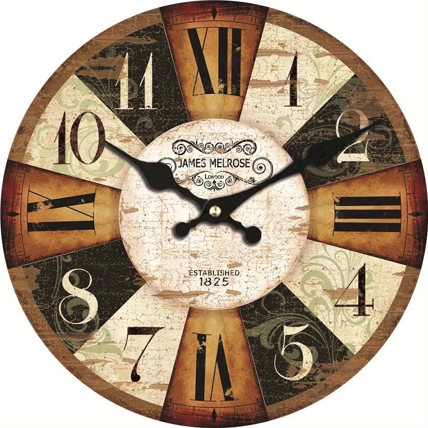 f63d6ab7f MEISTAR خمر خشبية الساعات وجيزة تصميم الصامت المنزل مقهى مكتب جدار ديكور  حائط لل مطبخ جدار