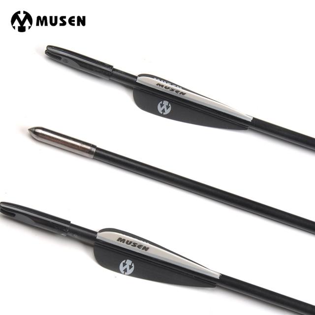6 12 24pcs 80cm spine 1200 diameter 6mm fiberglass arrow with black