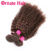 Ornate Hair Afro Kinky Curly Hair Bundles 100% Remy Human Hair Extension Natural Color Brazilian Hair Weave Bundles