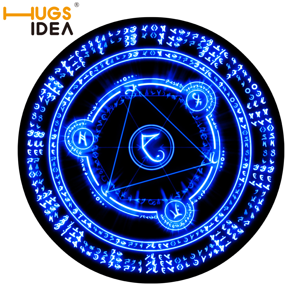 174 Hugsidea Sakura Magic Circle ⑧ Carpet Carpet Round Blue