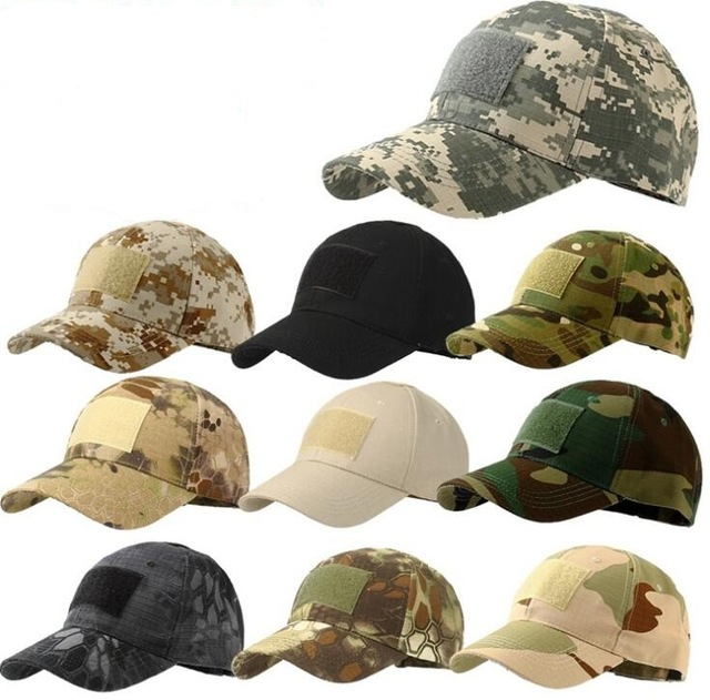 Unisex Military Baseball Caps Camouflage Outdoor Tactical Cap US Marines  Army Hat Camo Sports Visors Army Snapback Cap 4ab91088da17