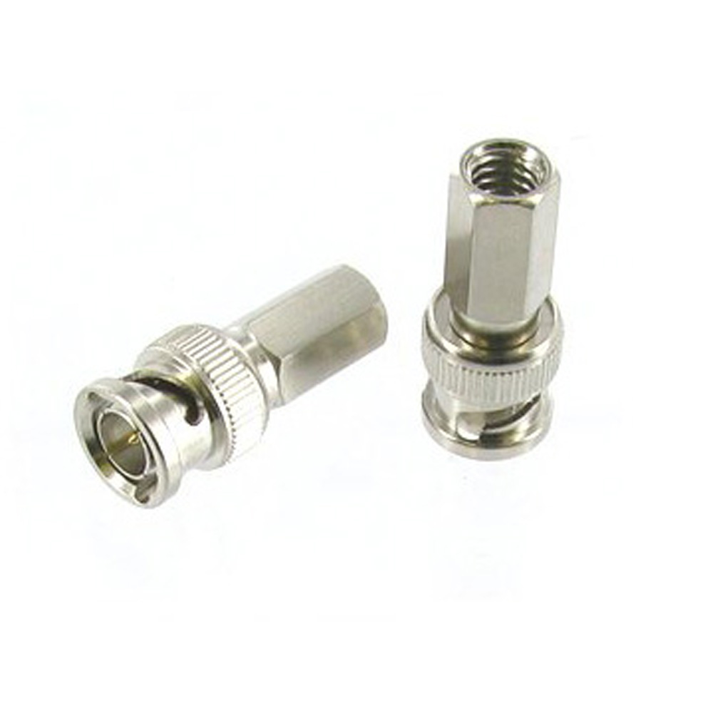 DSHA New Hot Twist-On BNC Male Coax Connectors CCTV RG59 Pack of 10