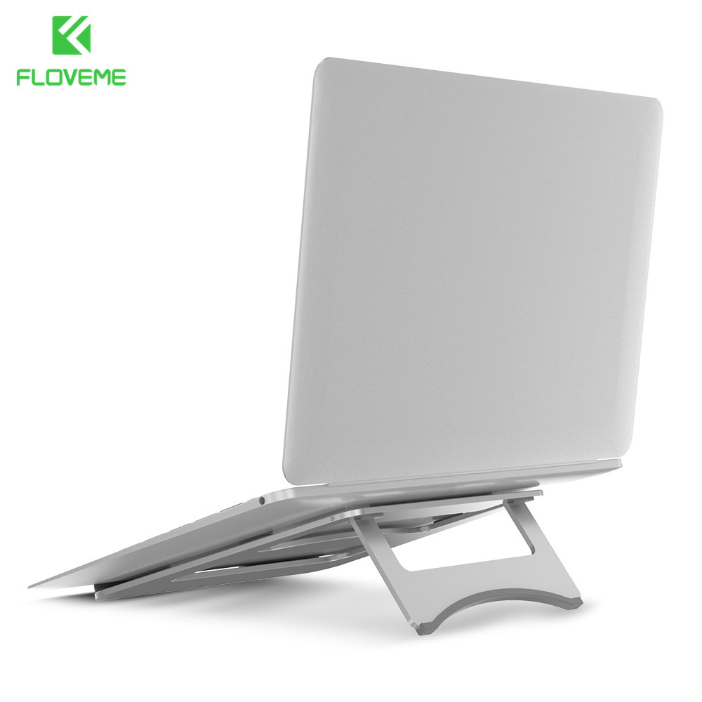FLOVEME Universal Alloy 11-15 inch Laptop Notebook Desk Holder Cooling Stand Portable Tablet Holder For Apple MacBook Air Pro