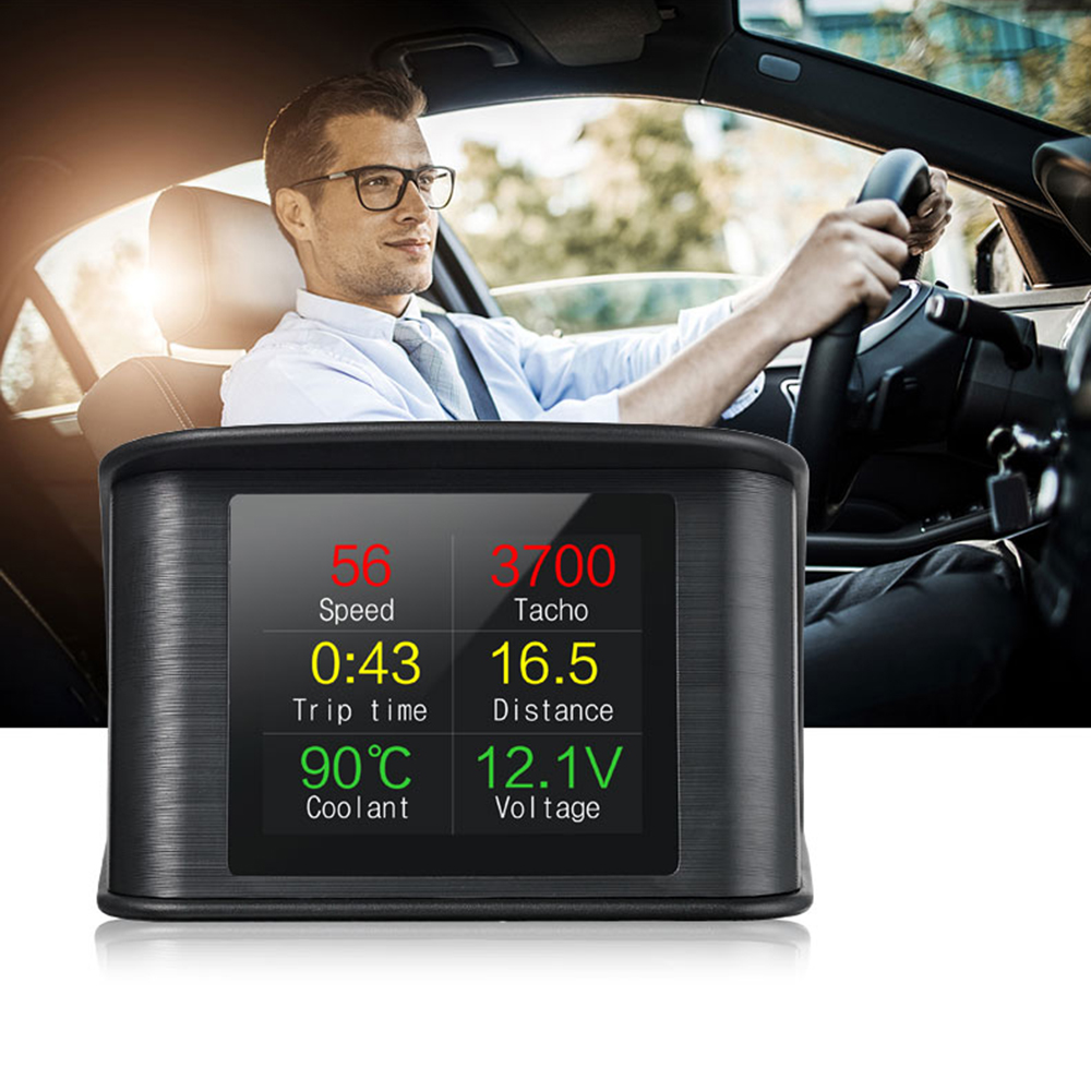 Car HUD LED Heads Up Display OBD Scanner OBD2 Digital Speedometer Detector Tool