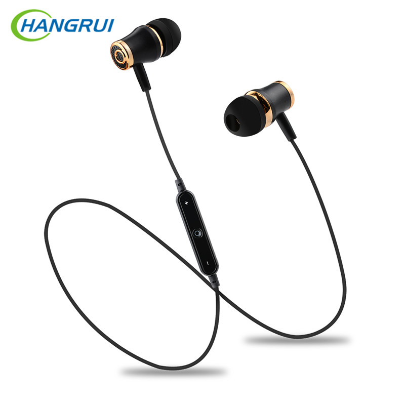 HANGRUI S6 Sports Bluetooth Headset Stereo wireless headphones with mic Running Sweatproof Earphone for iphone xiaomi samsung