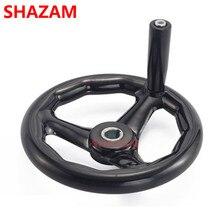 Шлифовальный станок, ручное колесо, три бакелитовые ручки, фрезерный станок, кромка, Черное круглое колесо, Поворотное Колесо, ручка 200*18(шпагат 6 мм