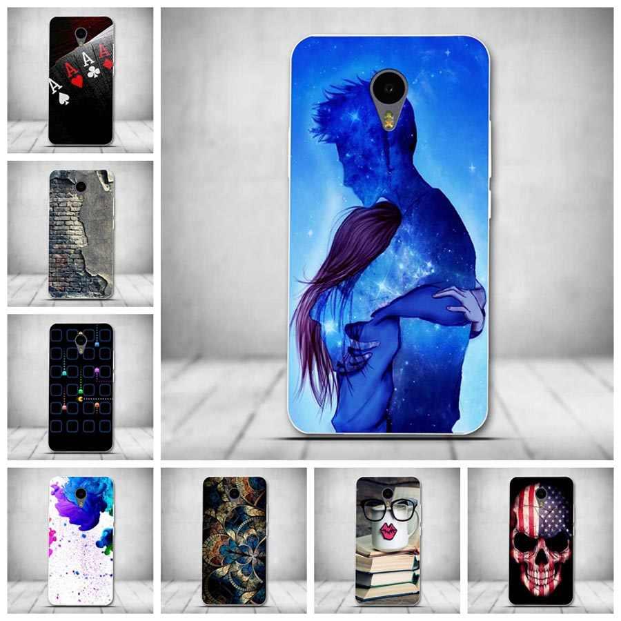 Nueva funda de teléfono móvil TPU suave pintada para Meizu M2 Note Meilan Note 2 4G Dual SIM M2Note silicona 5,5 pulgadas contraportada
