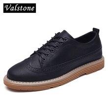 Valstone 2017 NEW arrival super hot brogues men fashion sneakers men leather pantshoes oxford shoes lace up for autumn & winter
