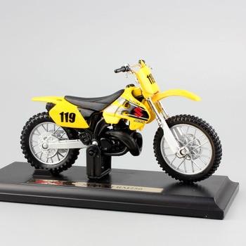 Mini-Bicicletas de Cross SUZUKI RM250, Motocross MX AMA, 1/18 superbike a escala de metal, juguetes modelo de motocicleta para niños