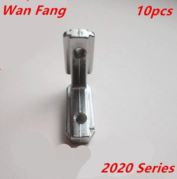 10pcs T Slot L-Shape 2020 Aluminum Profile Interior Corner Connector Joint Bracket (with Screws)