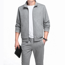 new mens suits spring/summer sports suit jacket/trousers casual wear mens casual sports suit high quality large size m 5xl