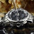 Cristal de safira Relógios DOM Relógio de Quartzo de Aço Dos Homens de Negócios relógios de Pulso Moda Casual Esporte Homens Relógio Relojes Hombre 2016