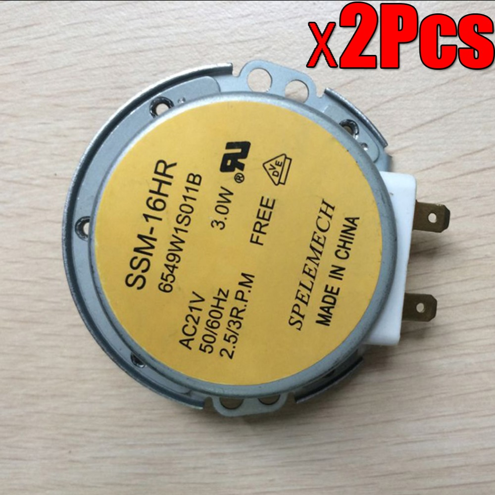 2PCS NEWEST Microwave Oven Synchronous Motor Tray Motors SSM-16HR AC 21V 3W 50/60Hz for lg Microwave Oven Parts
