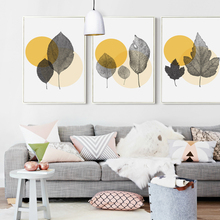 Bianche Wall Modern Simple Abstract Dots and Leaves Canvas Painting Art Print Poster Picture Decoration Home Decor
