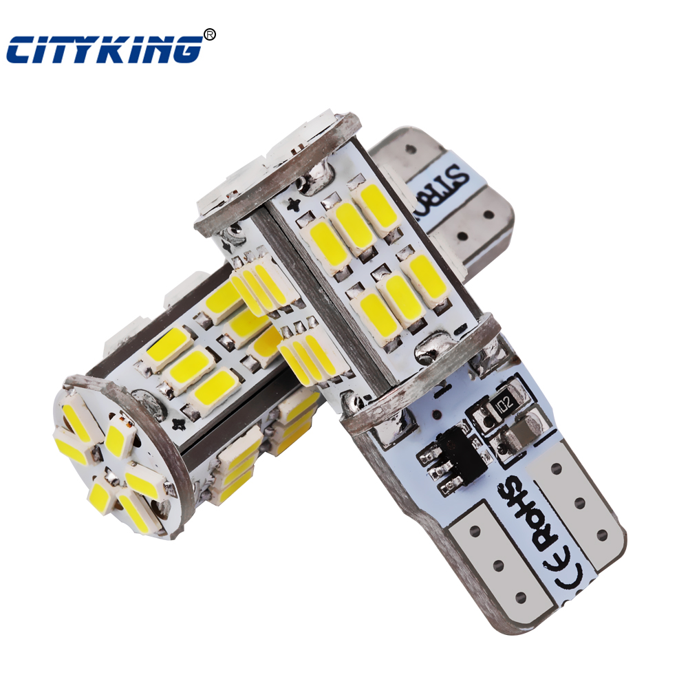 2 x T10 LED-flitser W5W t10 30led 3014 smd Autolamp met twee bedieningsmodi t10 30SMD autostroboscoop wit auto styling