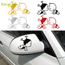 Auto 3D Child Design car Rearview Mirror Sticker Waterproof vehicle car styling car-covers personality auto accessories Jul 20(China)