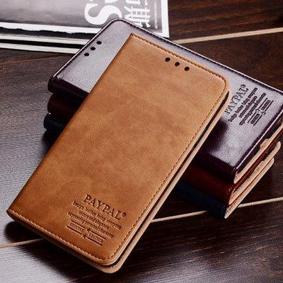Caso lenovo k920 vibe z2 pro couro genuíno, virar luxo couro para CaseWallet para o telefone