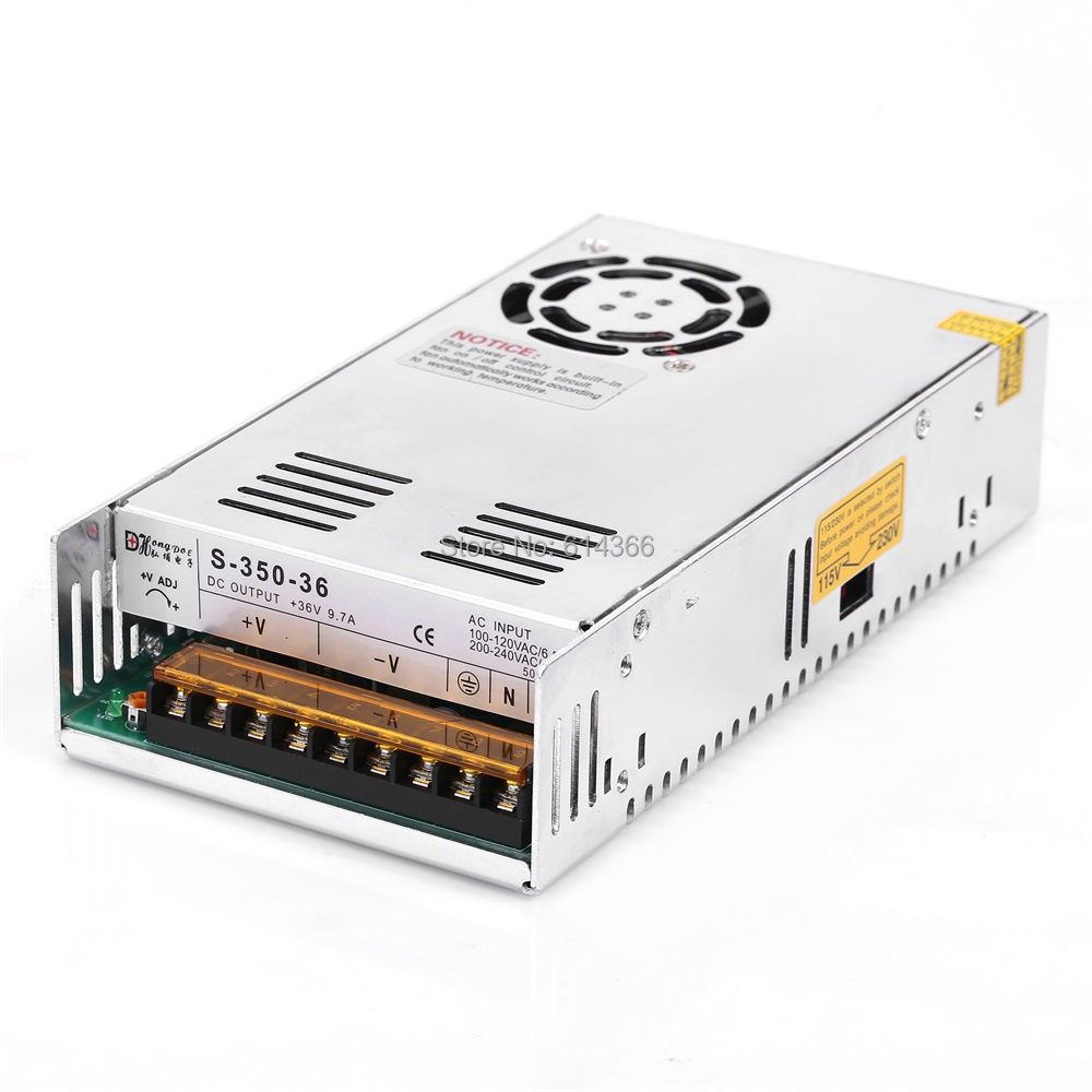 1PCS 350W 36V9.7A power supply 36V 9.7A 350W AC-DC 100-240VAC S-350-36 DC36V 20pcs 350w 12v 29a power supply 12v 29a 350w ac dc 100 240v s 350 12 dc12v