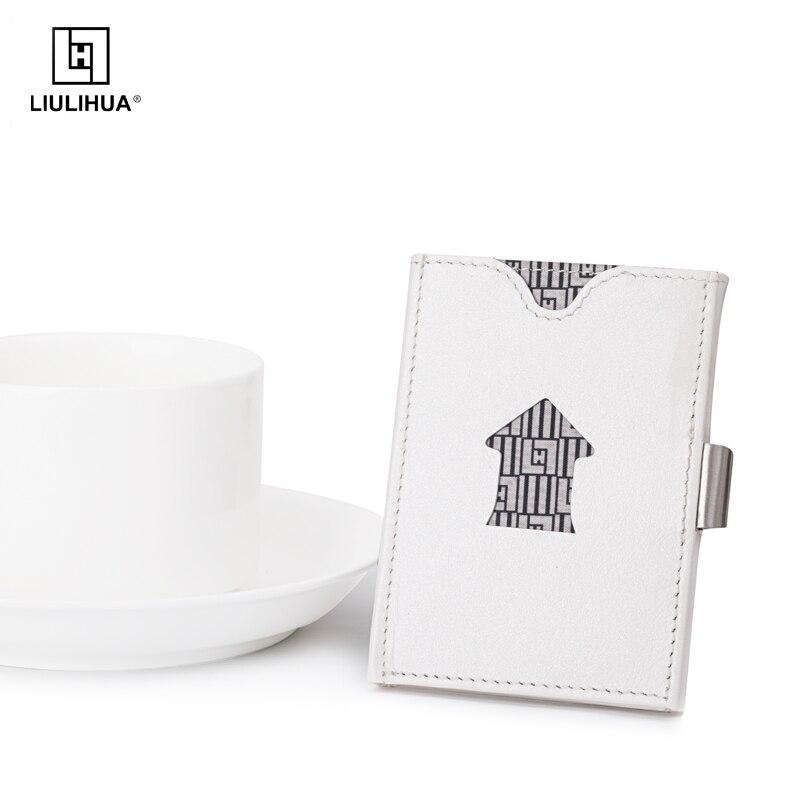 LLH mode porte-carte sac à main RFID bloquant les hommes mince en cuir véritable voyage portefeuille argent portefeuille court portefeuille carteira