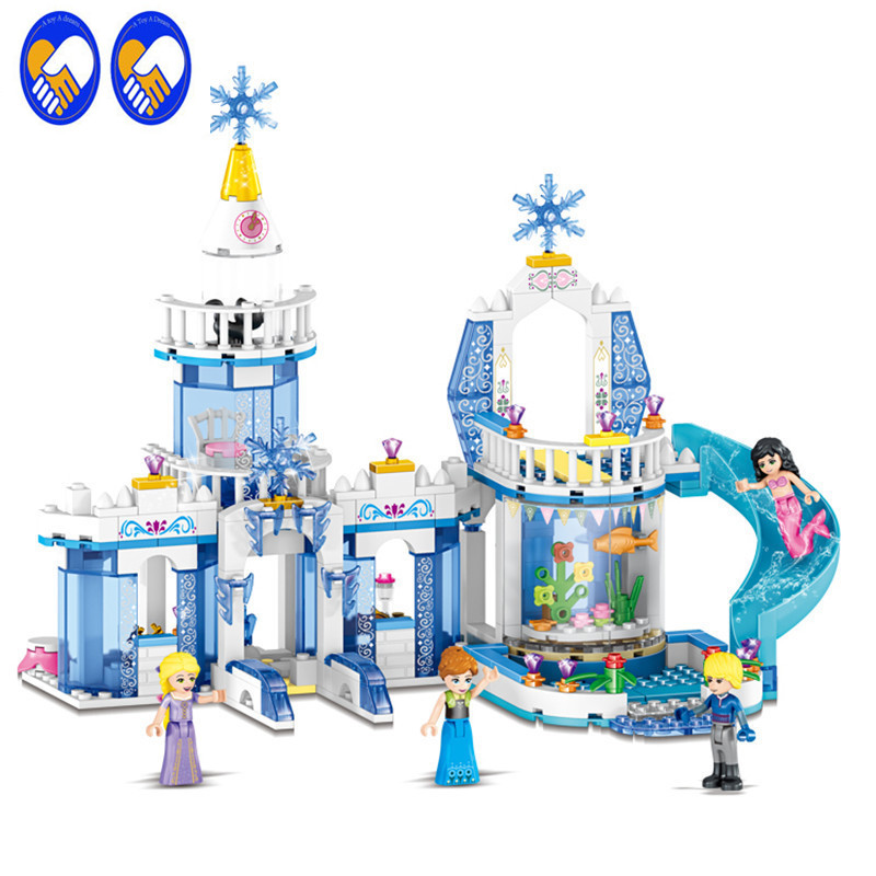 A Toy A Dream 344pcs 37026 Snow Princess Elsa Ice Castle Princess Anna Set Model Building Blocks Gifts Toys Compatible 2 In 1 mashang x9 professional usb 2 0 wired 800 1200 1600 2400dpi gaming mouse w colorful led black