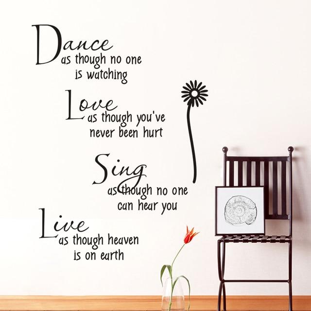 Tari Bernyanyi Cinta Hidup Inspirational Dinding Stiker Dekorasi