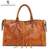 SC Large Women Leather Bags Female Retro Vintage Italian Leather Shoulder Tote Bag for Girls Large Capacity Luxury Designer