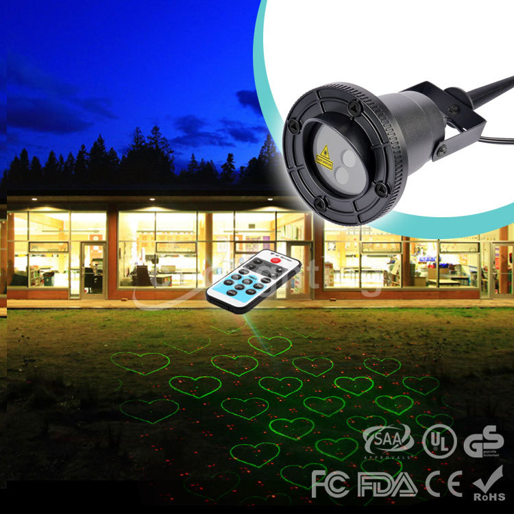 Christmas  red green waterproof outdoor lawn 20 pattern remote laser lights Christmas atmosphere light square courtyard