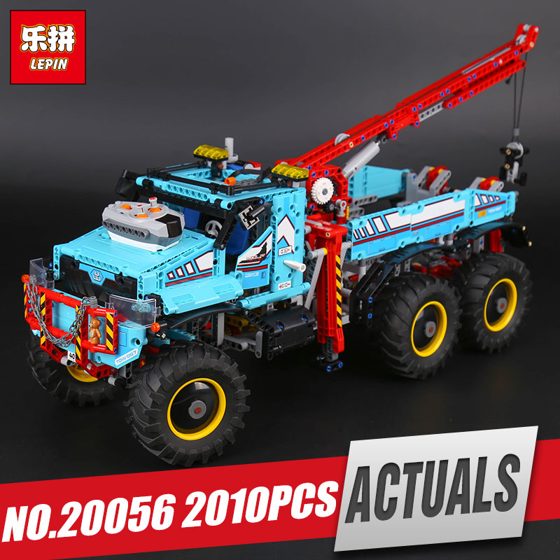DHL Lepin 20056 Technic Series The Ultimate All Terrain 6X6 Remote Control Truck Set Building Blocks Bricks legoing 42070 Toys sata 15 pin to type d 4 pin ide serial power cable multicolored 15cm 2 pcs
