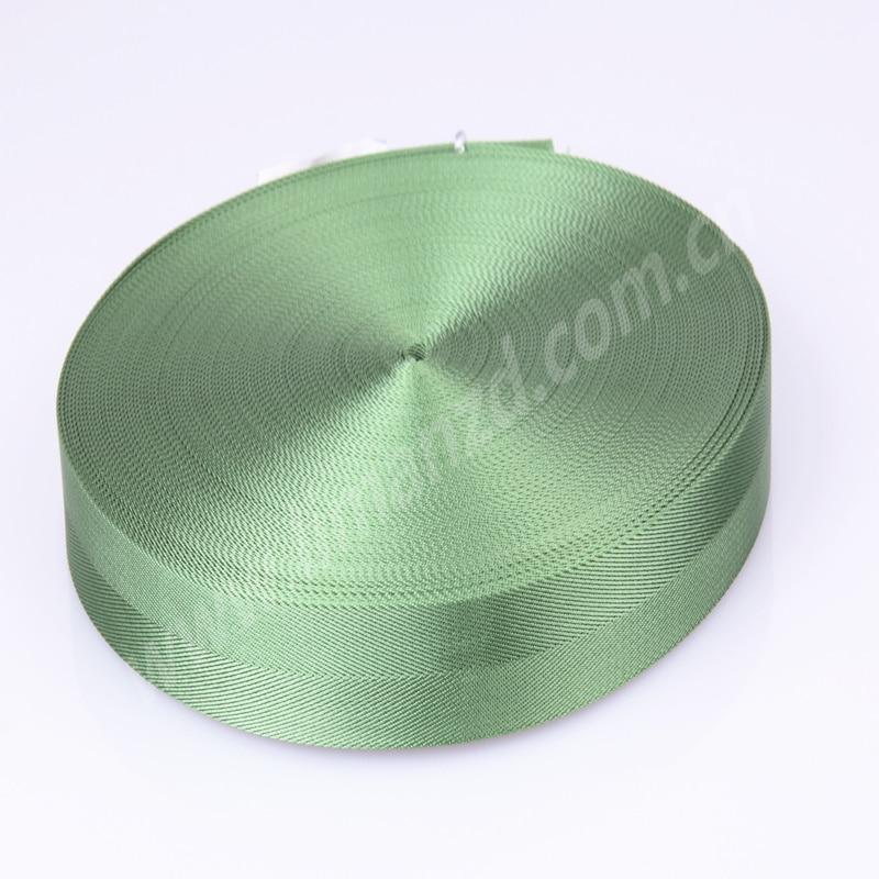 """1,2 """"zelený popruh 100% nylonová páska limanová stuha na prodej"""