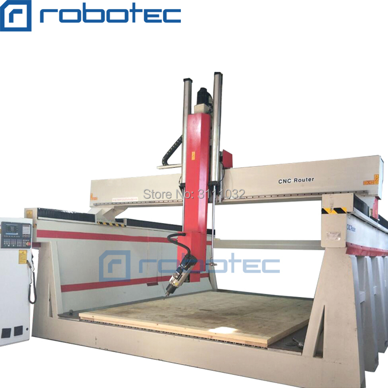 ROBOTEC Factory Supplier 4 Axis Cnc Router, 5axis Cnc Router Woodworking Machine For Sale