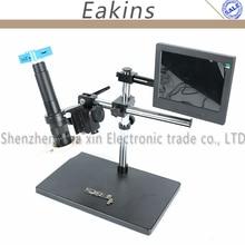 """Hohe qualität 16MP Full HD 1080 P 60FPS HDMI USB 300X/180X Industrie Digital Mikroskop Kamera Video Kamera + 8 """"LCD-Monitor"""
