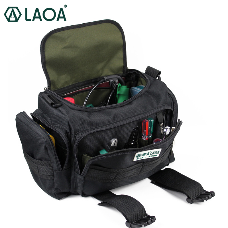 LAOA LA212817 Multifunction Large Capacity Professional Repair Tools Bag Messenger Bag