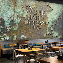 Custom 3d mural ancient industrial wind bar coffee shop background wall decoration painting wallpaper mural photo wallpaper