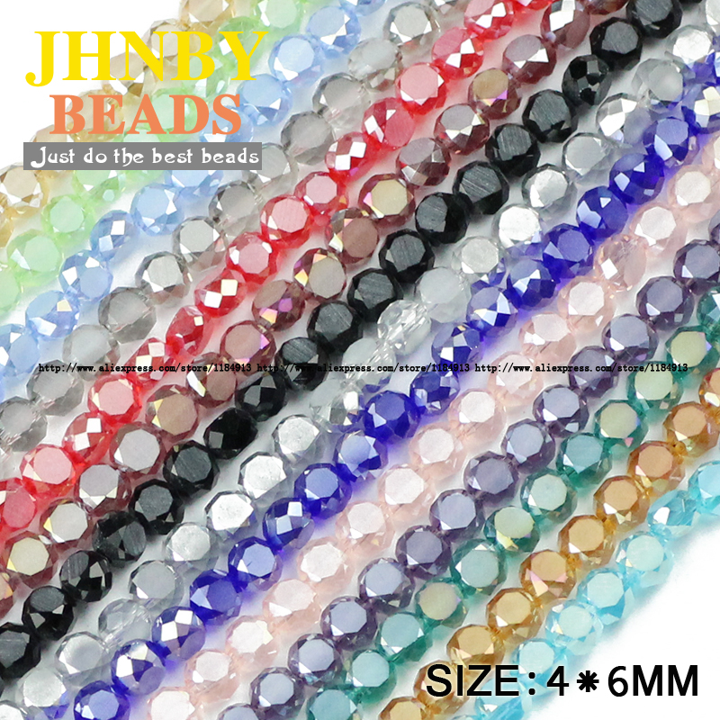 Beads & Jewelry Making Jewelry & Accessories Nice Jhnby Bread Shape Austrian Crystal Beads 50pcs High Quality 5*8mm Matte Glass Flat Round Loose Beads For Jewelry Making Bracelet