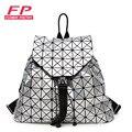 Moda Feminina Mochila Cordão Diamante Treliça Geometria Bao Bao Saco Acolchoado Senhoras Mochila Sac Para adolescente Escola Bags