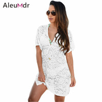 See Through Lace Cover Up Dress LC42054