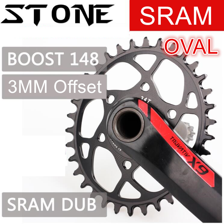 Stone MTB Bike Oval Single Chainring 6mm Offset for SRAM xx1 xo1 eagle gx 30-38T