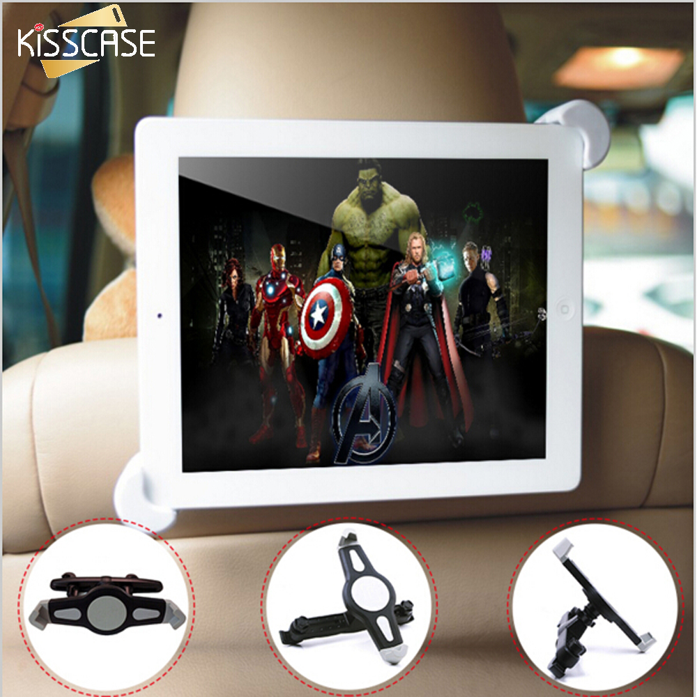 KISSCASE 7-11 Car Back Headrest Mount Stand Holder For iPad Mini 1 2 3 4 5 Air 2 360 Degree Rotate Tablet Accessories Bracket h29 car windshield holder swivel mount w c61 4 5 7 back clip for ipad mini tablet pc black