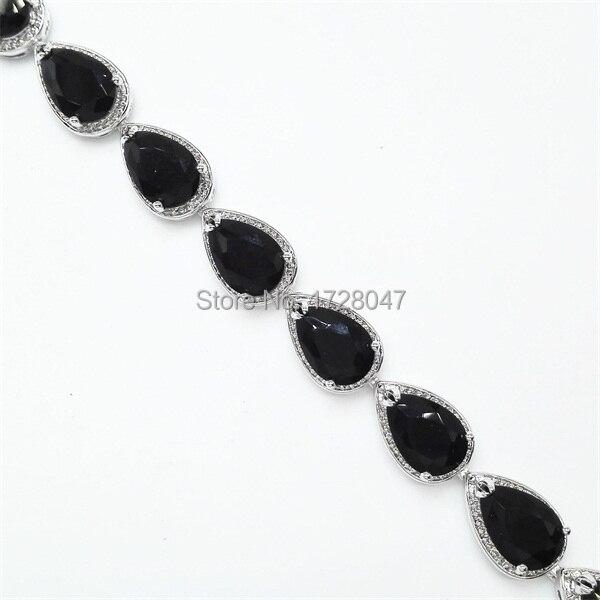 Bracelet Onyx Argent