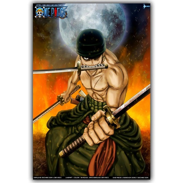 Prints Pictures Home Wall Artwork Modular Poster 1 Panel One Piece Painting Japanese Anime Canvas Living Room Framed