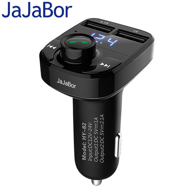 JaJaBor Auto MP3 Audio Player Bluetooth Car Kit FM Transmitter Freisprechen 5 v 4.1A Dual USB Auto Ladegerät Telefon ladegerät